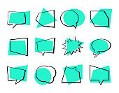 Speech bubbles collection - set of vector elements