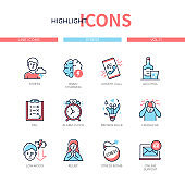 Highlight icons set