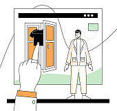 Online shopping - modern flat design style illustration