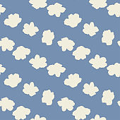 Anemone flowers,vector seamless pattern.