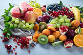 Fresh healthy fruits