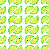 Citrus Hand Drawn Seamless Patterm-01