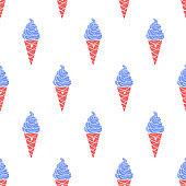 Ice-cream Pattern Colored-06