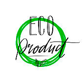 Eco Product Label Lettering Style-18