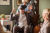 Seniors using VR