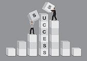 Comparative Advantage for Success Business Cartoon Vector Illustration