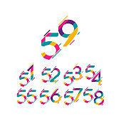 59 Years Anniversary Celebration Vector Template Design Illustration