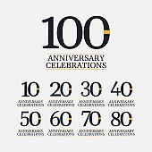 100 Years Anniversary Celebrations Vector Template Design Illustration