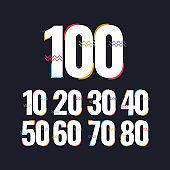 100 Years Anniversary Celebration Vector Template Design Illustration Logo Icon