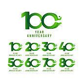 100 Years Anniversary flux Celebration Vector Template Design Illustration