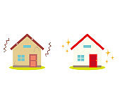 Illustration of a residence. House illustration. simple. Home insurance