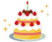 Cake vector illustration . Sweets, desserts .Shortcake