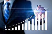 Businessman plan the growth with business internet technology of investment with financial chart