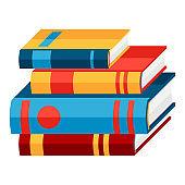 Stylized illustration of books.