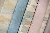 trendy multicolored modern design rolls wallpaper as background