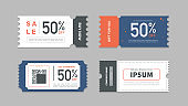 Coupon discount with vector illustration