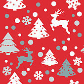 Merry Christmas and Happy New Year Seamless Pattern . Decorative  texture for web page background, wrapping paper Eps 10
