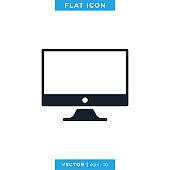 Desktop Icon Vector Design Template.