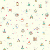 Vector illustration of a cute Christmas and holiday time elements.