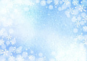 Watercolor snowflake background illustration.