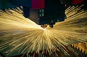 The hi-technology sheet metal manufacturing process by laser cutting machine.