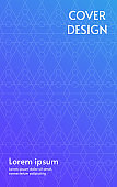 Abstract pattern of symbol cover design on violet and blue gradient background