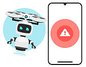 Chat bot for smart phone alert.
