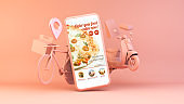 fast food home delivery app concept