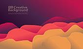 Liquid color background design. Fluid gradient shapes composition for elements material design