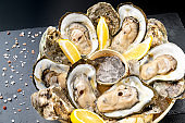 Fresh oyster with lemon