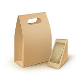 Set of Take Away Handle Packaging For Products