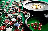 Casino concept. Gambling games.