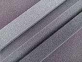 soft texture of the edge of the gray sponge foam