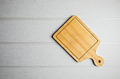 wooden cutting board  on the table