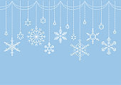 frame:Background decorated with snowflake ornaments(vector)