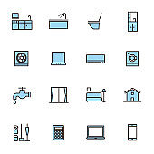 Simple icon set: house cleaning