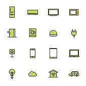 Simple icon set: smart houses and home appliances