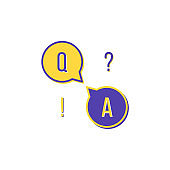 flat question and answer icon