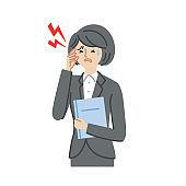 Business: Illness, symptoms, headache, women(fill)