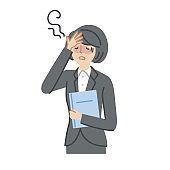 Business: Illness, symptoms, fever, women(fill)