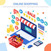 Online shopping, sale concept. Buy in retail shop by internet