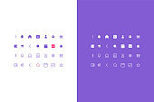 vector finance icons and money management