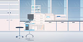 modern lab interior empty no people chemical laboratory with furniture horizontal