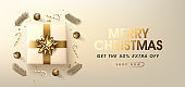 Christmas sale banner background template