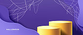 Halloween banner or party invitation background