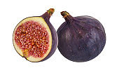 Figs isolated on white background with clipping path