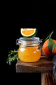 Citrus jam of kumquats and two sorts of tangerines