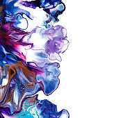 Fluid art abstract background