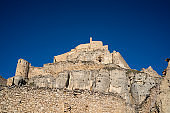 Morella castle heritage in Maestrazgo of Castellon Spain