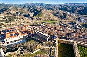 Morella village skyline in Maestrazgo of Castellon Spain